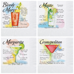 Variety Pack Beverage Napkins