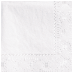 White Beverage Napkins