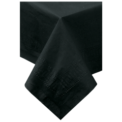 Black Tissue/Poly Folded Tablecovers