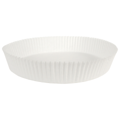 White Fluted Round Cake Liners