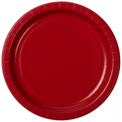Solid Color Round Paper Plates