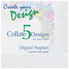 Collated Recycled White Beverage Napkins