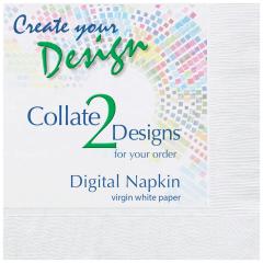 Collated Bright White Beverage Napkins