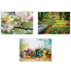 10 in x 14 in Spring Multipack Paper Placemats 1000 ct.