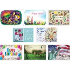 10 in x 14 in Spring Paper Placemats 8 Designs Combo Pack 1000 ct.