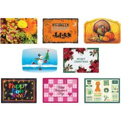10 in x 14 in Fall and Winter Paper Placemats 8 Designs Combo Pack 1000 ct.