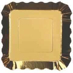 Gold Metallic Small Appetizer Plate