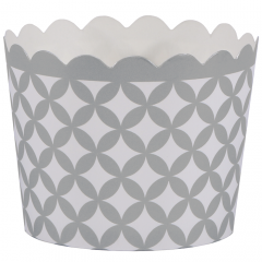 1.5 in x 2 in Silver Diamond Baking Cups 550 ct.