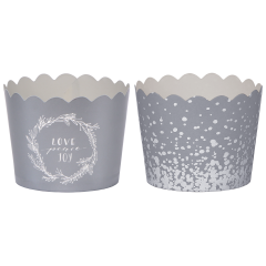 Silver Metallic Holiday Set Simply Baked® Cups