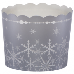 Silver Snowfall Bake Cup