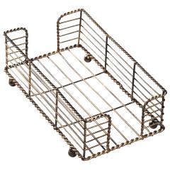 8.75 in x 5 in Bronze Wire Guest Towel Basket 1 ct.