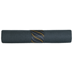 7.75 in x 7.75 in Pre-rolled CaterWrap Black FashnPoint Dinner Napkins with Metallic Cutlery 100 ct.