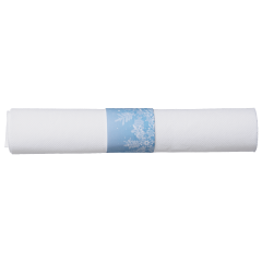 7.75 in x 7.75 in Pre-rolled FashnPoint CaterWrap White Napkins with Clear Cutlery 100 ct.