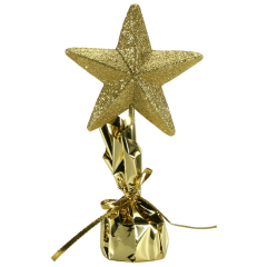 12 in Glitter Gold Star Centerpieces 6 ct.