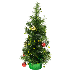 16.75 in Christmas Tree with Ornaments Centerpieces 6 ct.