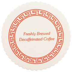 3.25 in Scalloped Decaf Coffee Budgetboard Coasters 1000 ct.