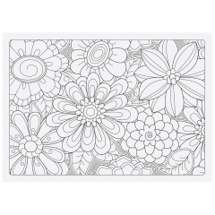 10 in x 14 in Adult Coloring Placemats and Colored Pencils Combo Pack 200 ct.