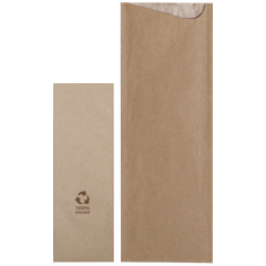 9.5 in x 3.25 in Kraft Cutlery Pouches 600 ct.
