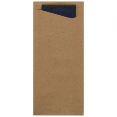 7.5 in x 3.25 in Kraft Cutlery Pouches 350 ct.