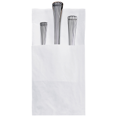 8.25 in x 4.25 in Coin Embossed Quickset White Dinner Napkins 800 ct.