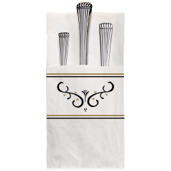 8.25 in x 4.25 in Coin Embossed Printed Quickset Dinner Napkins 800 ct.