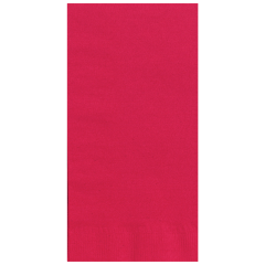 7.5 in x 4.25 in Coin Embossed Red Dinner Napkins 1000 ct.