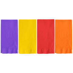 7.5 in x 4.25 in Bright Colors Multipack Dinner Napkins 1200 ct.