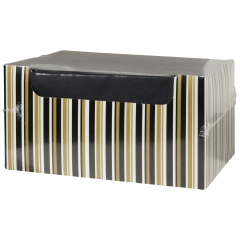 8.5 in x 4.25 in Coin Embossed Black Dinner Napkins with Decorative Packaging 600 ct.