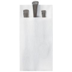 8.5 in x 4.25 in Linen-Like Quickset White Dinner Napkins 300 ct.