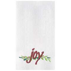 8.5 in x 4.25 in Linen-Like Joys of the Season Dinner Napkins 300 ct.