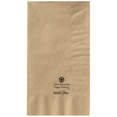 7.5 in x 4.25 in Earth Wise Kraft Dinner Napkins 1000 ct.