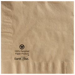 8.5 in x 8.5 in Earth Wise Kraft Dinner Napkins 1200 ct.