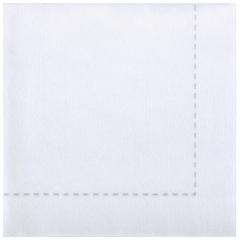 7.75 in x 7.75 in Bello Lino White Stitch Dinner Napkins 600 ct.
