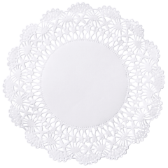 4 in White Cambridge Lace Doilies