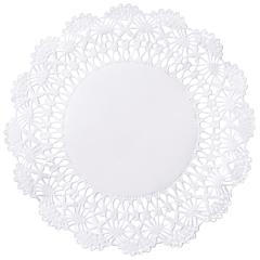 5 in White Cambridge Lace Doilies