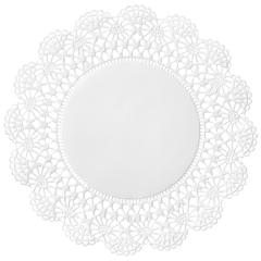 6 in White Cambridge Lace Doilies
