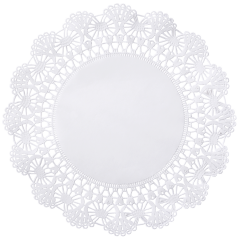 12 in White Cambridge Lace Doilies