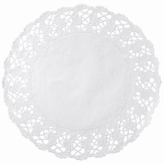 16.5 in White Kenmore Lace Doilies