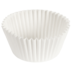 4.5 in White Fluted Baking Cups 10000 ct.