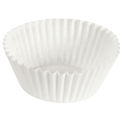 5 in White Fluted Baking Cups 10000 ct.