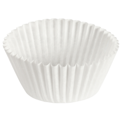 5.5 in White Fluted Baking Cups