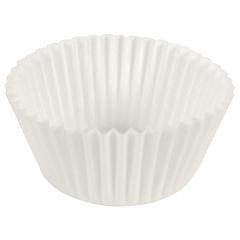 3 in White Fluted Baking Cups