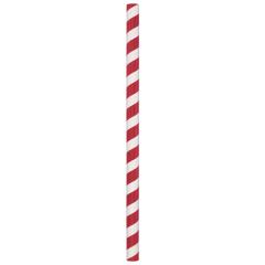 Red/White Stripe Compostable Giant Paper Straws
