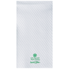 8.5 in x 4.5 in Embossed Earth Wise White Guest Towels 3000 ct.