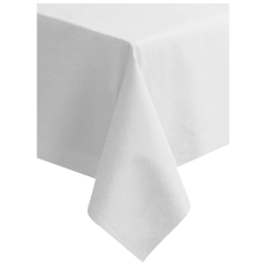 82 in x 82 in Linen-Like Greek Key Embossed White Tablecloth 24 ct.