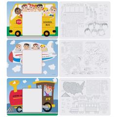 8.5 in x 12 in Kids Menu Multipack Placemats 1000 ct.