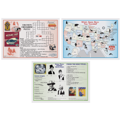 10 in x 14 in Multipack Variety Pack Activity Placemats 1000 ct.