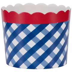 Simply Baked Navy Plaid Bake Cup - Large