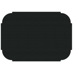 10 in x 14 in Tiffany Edge Linenized Black Paper Placemats 1000 ct.