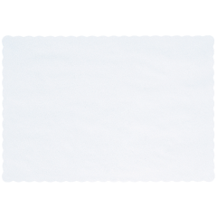 10 in x 14 in Scalloped White Paper Placemats 1000 ct.